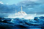 Artist's conception of the NOAA Ship RESEARCHER.
