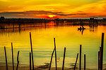 Dawn in lagoon