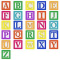 Baby blocks letters