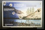 Close-up of interpretive panel near Yakima River.