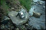 Stream flow measuring equipment at Douglas Creek.