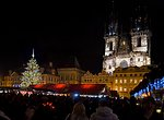 Prague - christmas tree at night