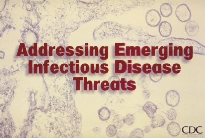 Title slide: Addressing Emerging Infectious Disease Threats