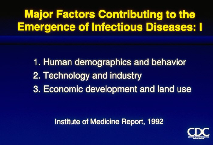 Major Factors Contributing to the Emergence of Infectious Diseases: I