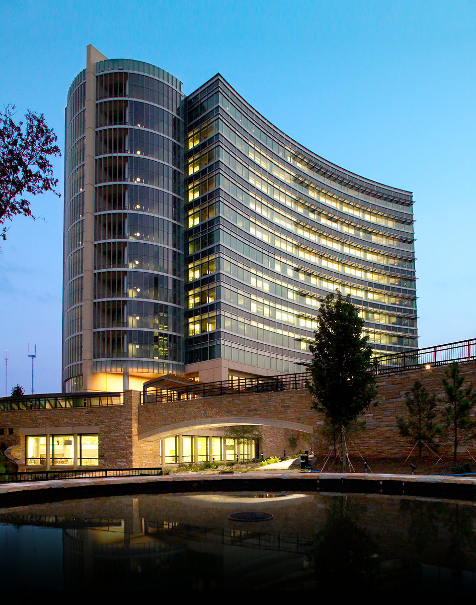 Photographed at dawn in September, 2005, this image depicts the Centers for Disease Control's (CDC) new Headquarters Building located on the