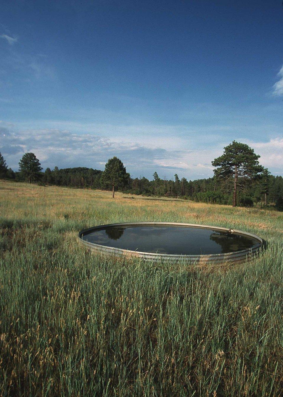 Livestock Water Trough near Spanish Peaks, CO.