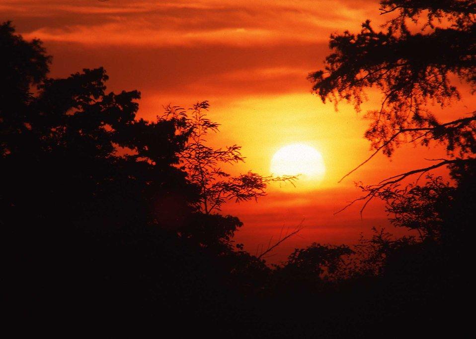 Sunrise in Arkansas.