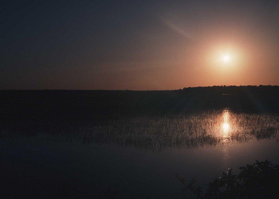 Sunset in Arkansas.