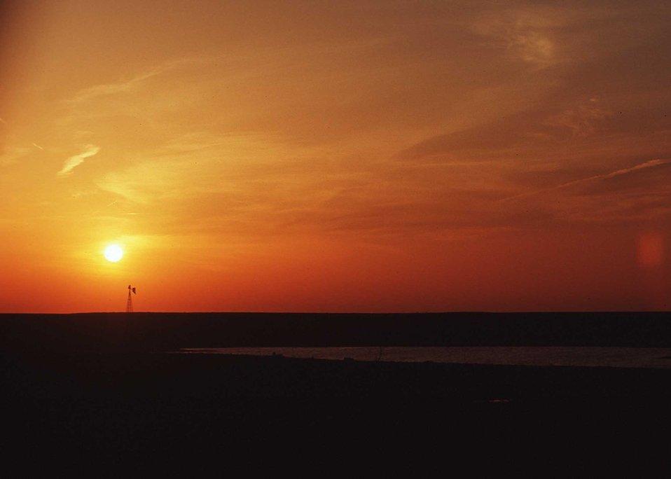 Sunset in Eastern South Dakota
