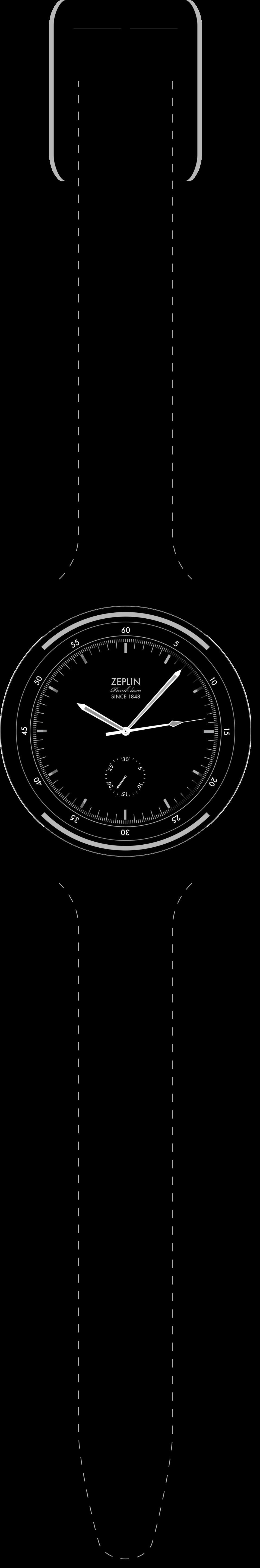 Illustration of a black watch