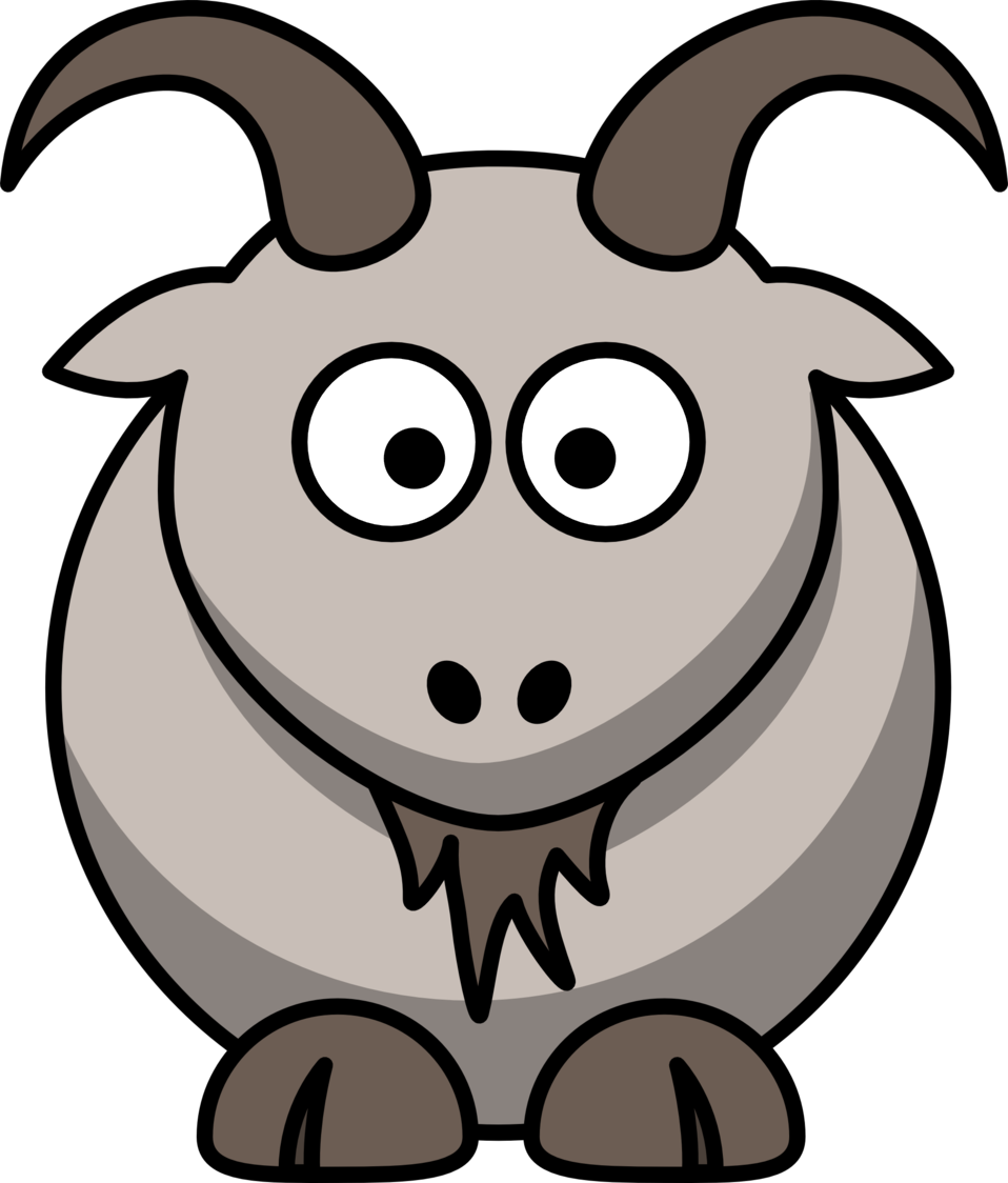 Illustration of a cartoon goat