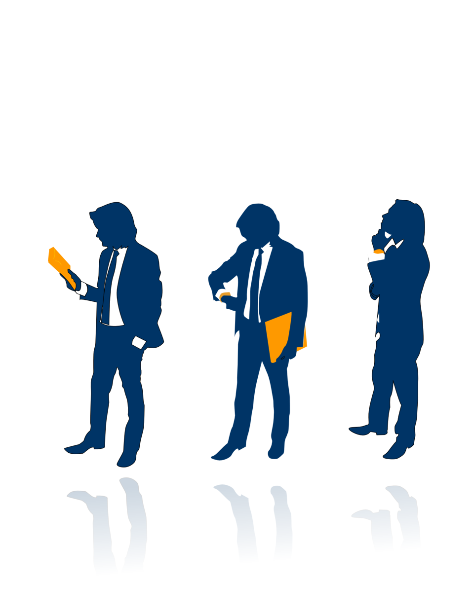 Illustration of businessmen silhouettes