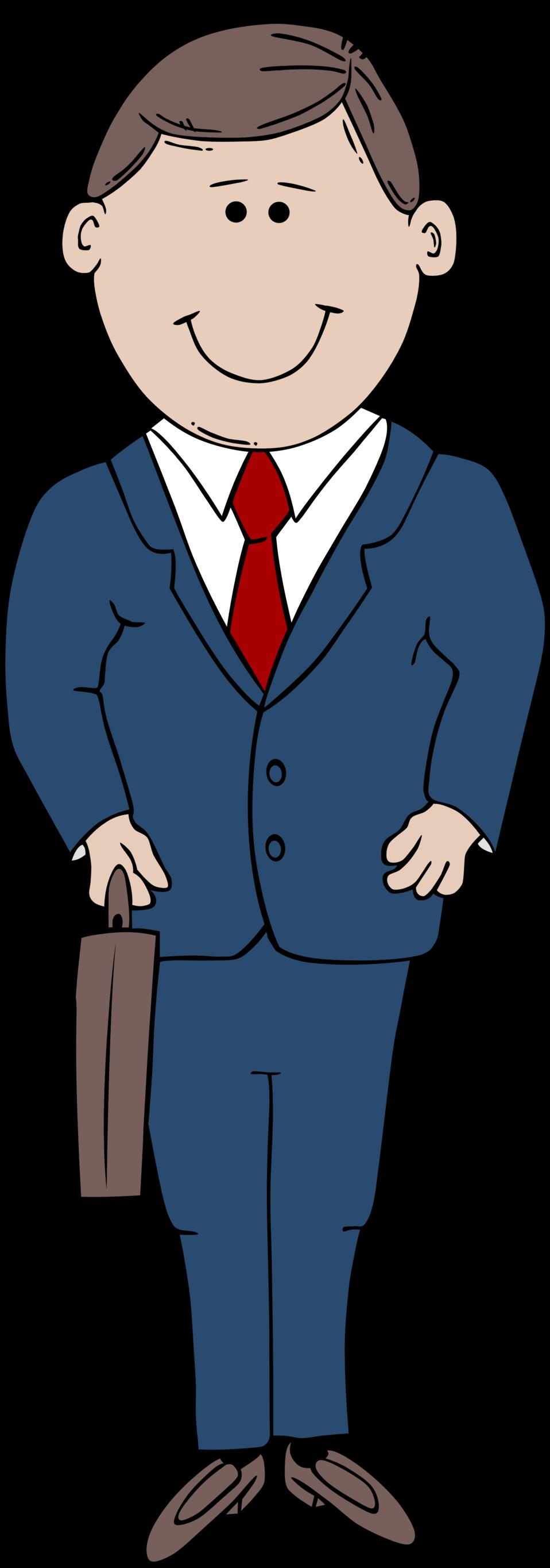 Illustration of a cartoon businessman