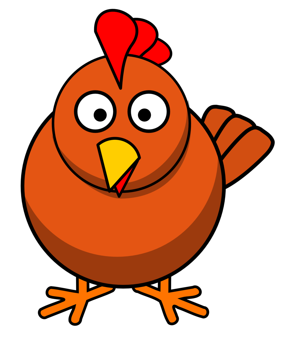 Illustration of a cartoon chicken