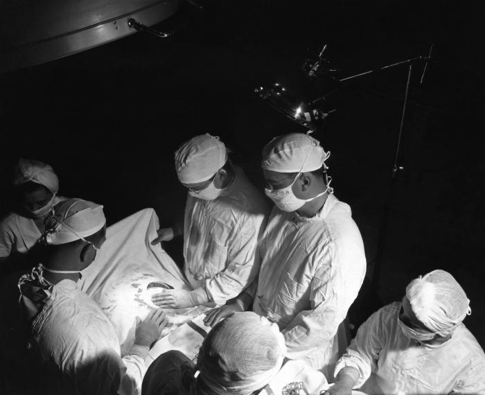 This 1950s historical photograph was provided by the Center for Disease Control's (CDC), National Institute for Occupational Safety and Heal