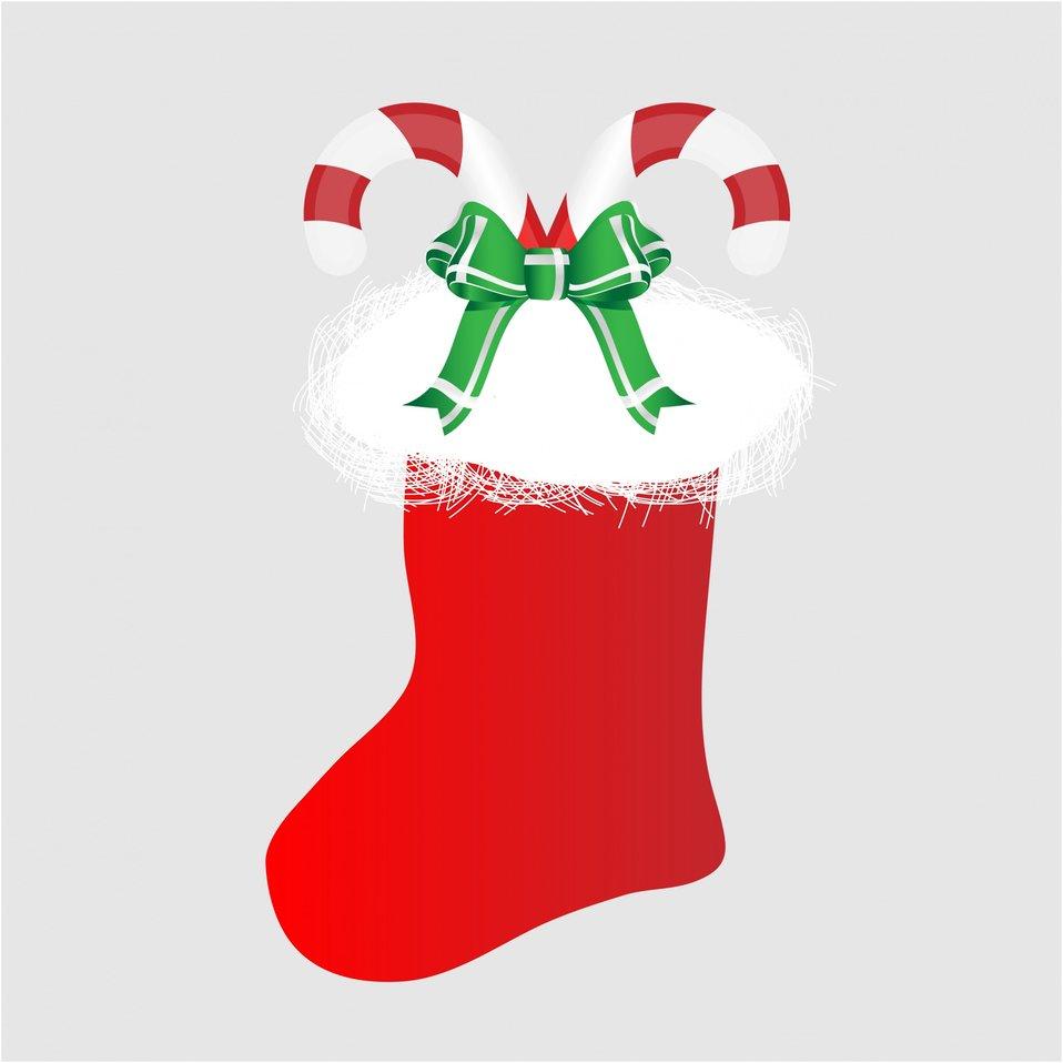 Christmas stocking candy cane