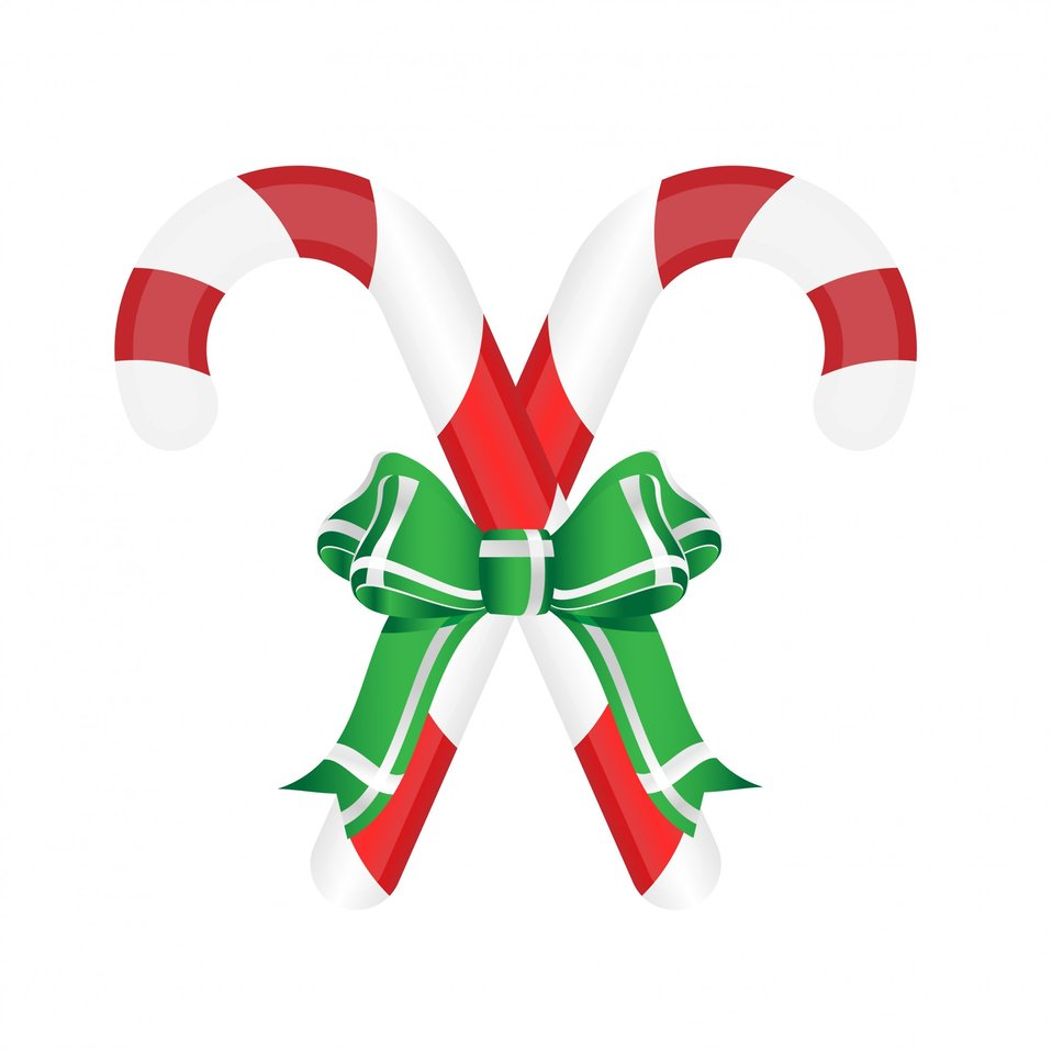Candy cane ribbon & bow