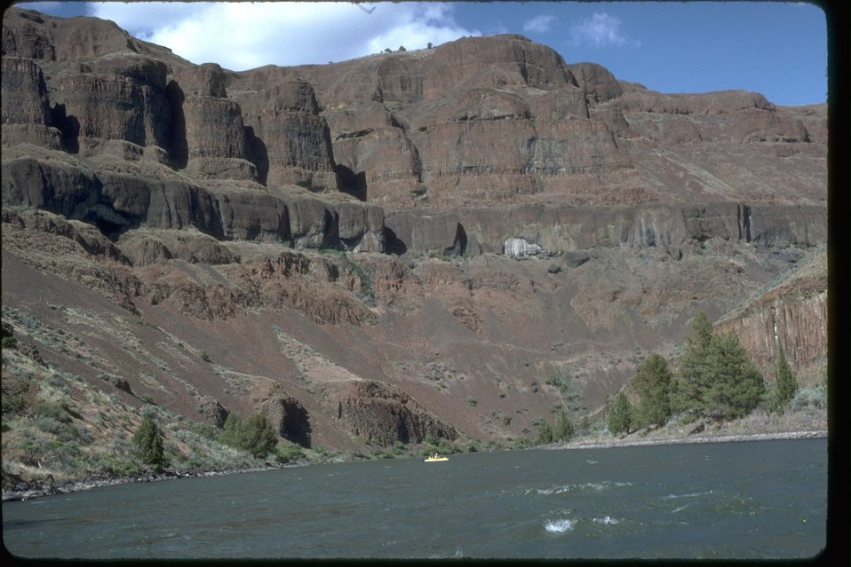 Basalt River Bluffs along the Lower John Day River.