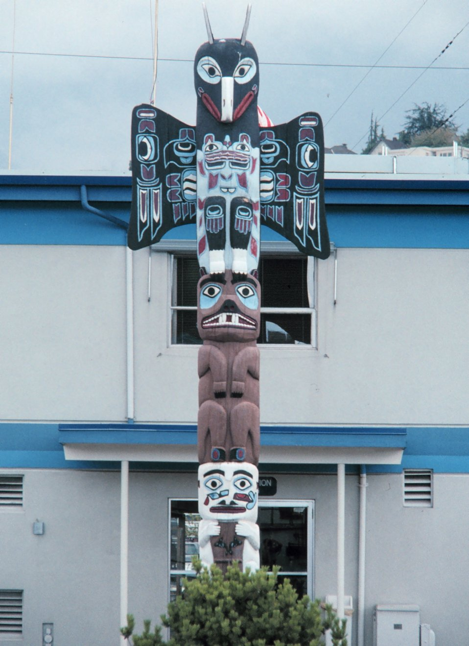 The totem pole at NOAA's Pacific Marine Center