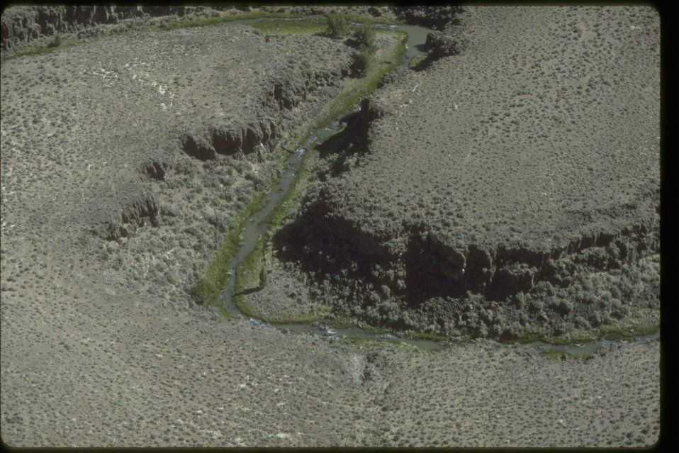 Aerial picture of Guano Creek Wilderness Study Area.  OR 1-132