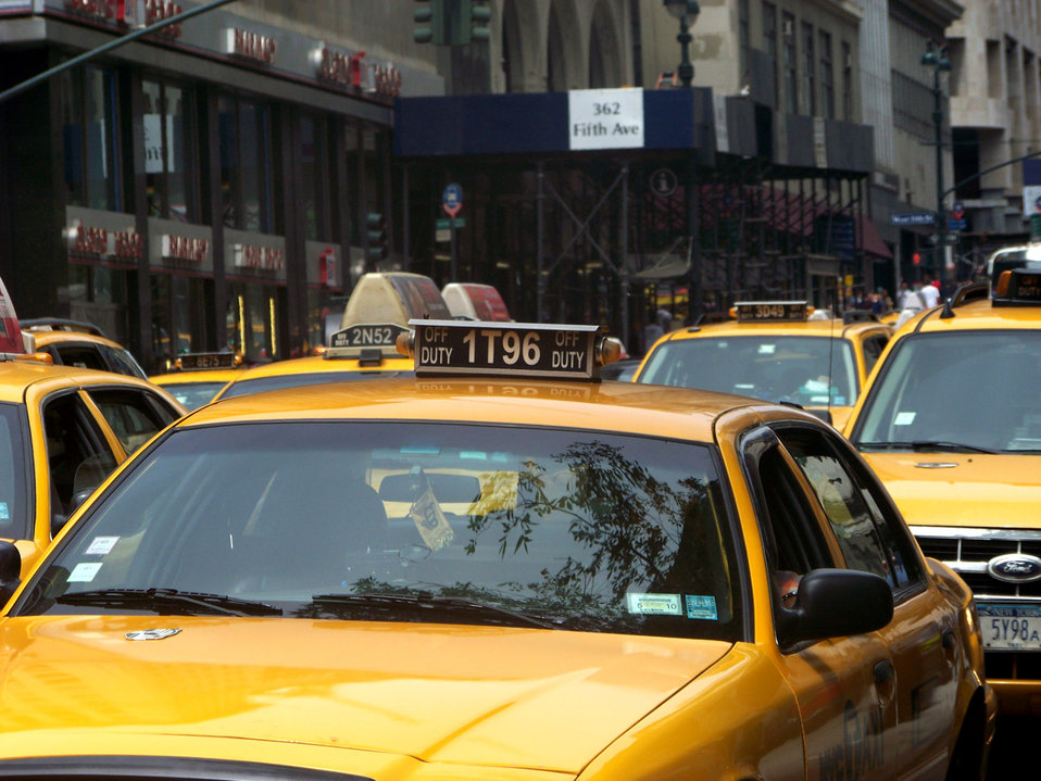 Taxicabs on 5th avenue