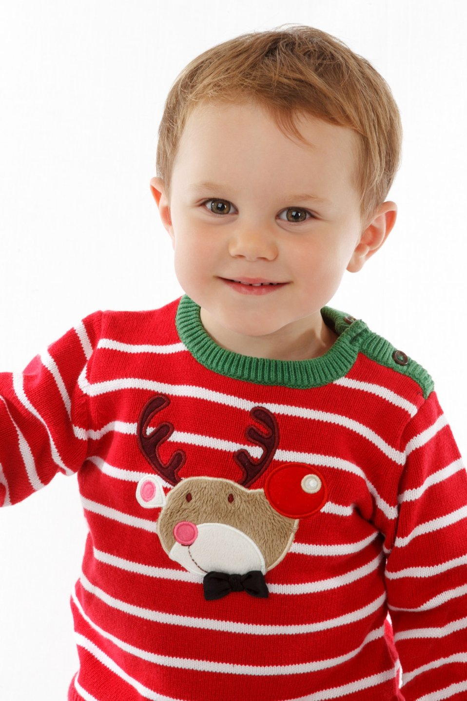 Little boy in christmas sweater