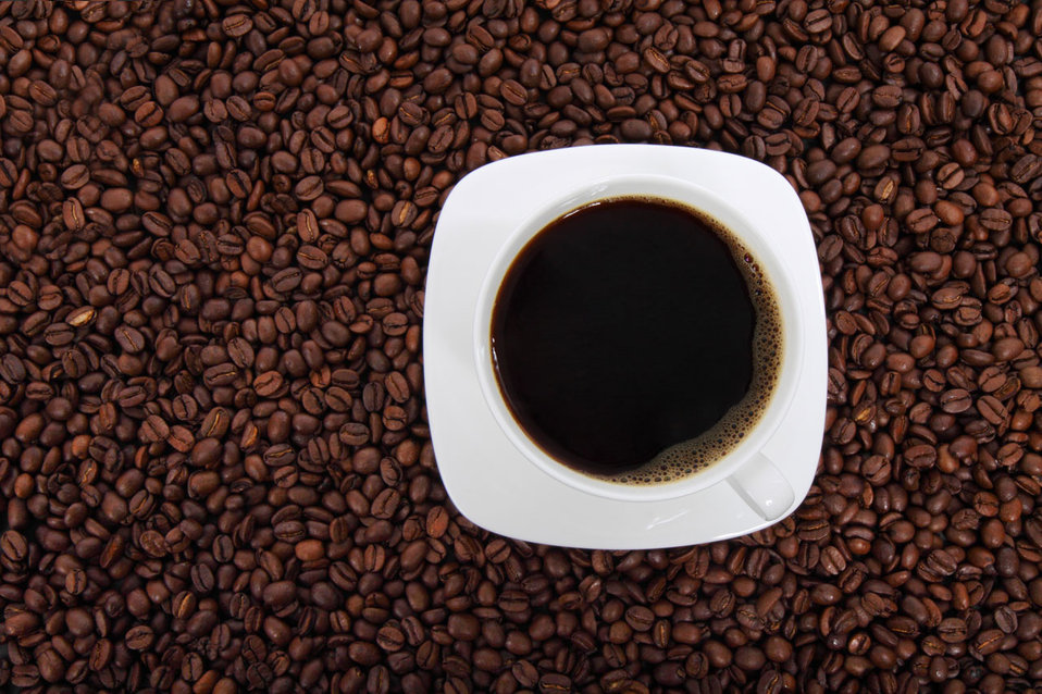 Cup of coffee from above