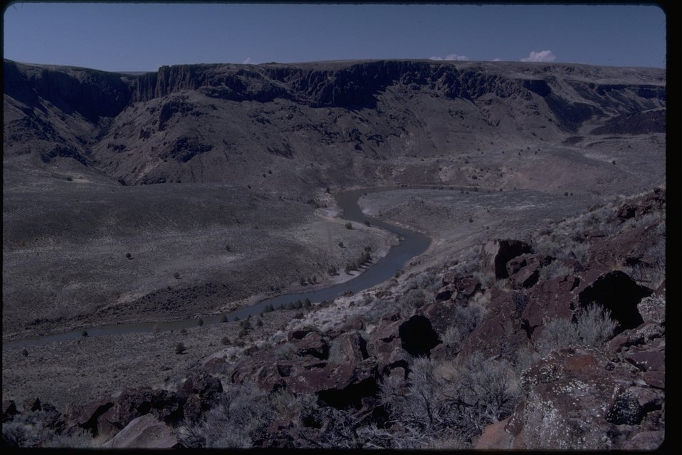 Rim rock view of the Owyhee Canyon.  OR 3-195