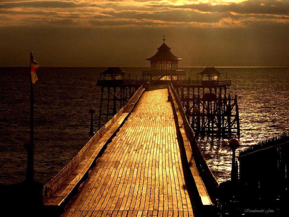 Pier in sun