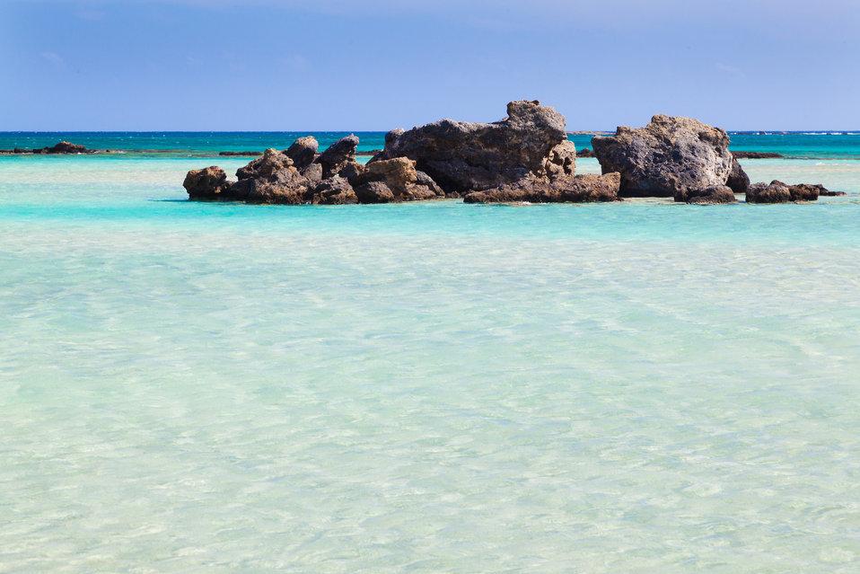 Tropical blue lagoon