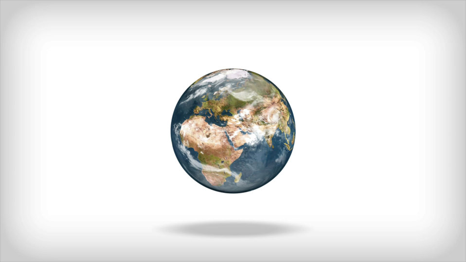 Isolated globe