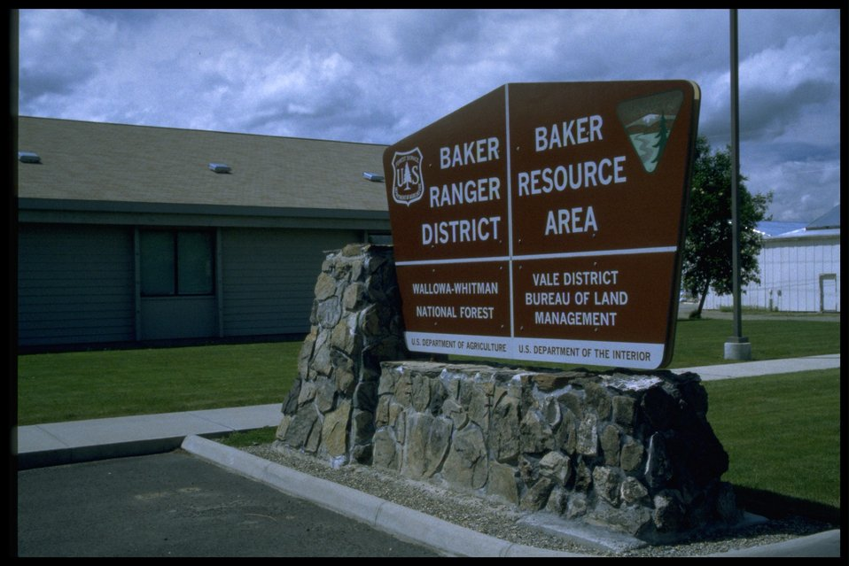 BLM Baker Resource Area Sign.