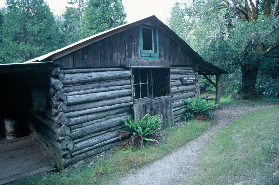 Whisky Creek Cabin along the Wild section of the Rogue River from Grave Creek to Foster Bar.  3100 cfs at Grants Pass and 5300 at Agness.