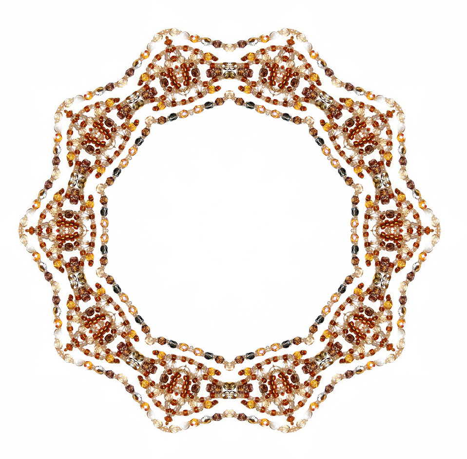 Ornamental beaded frame