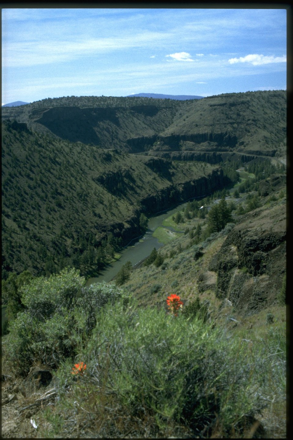 Lower Crooked Wild and Scenic River from Chimney Rock Trail.