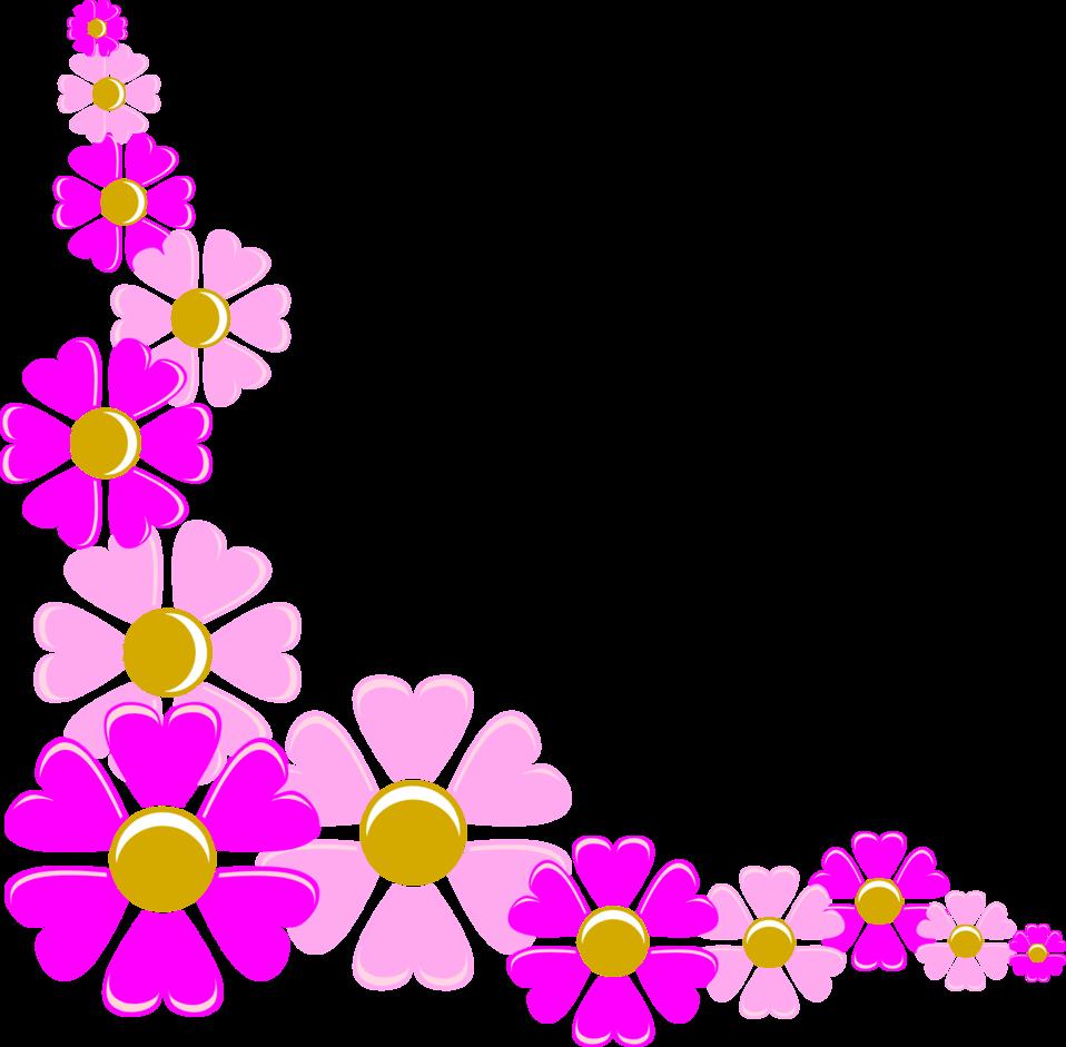 pink flower corner