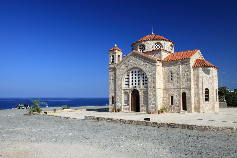 Church on coast