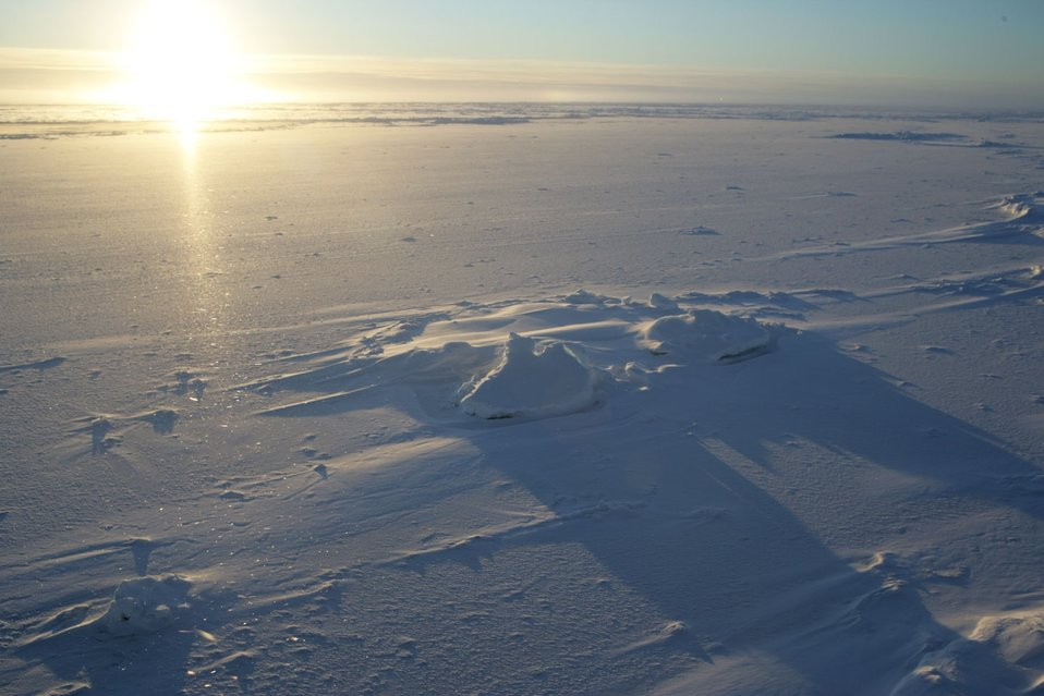 An Arctic sunrise. See: http://www.naturalsciences.org/education/arctic/