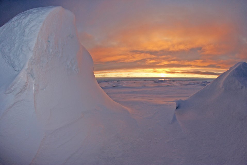 A spectacular Arctic sunset. See: http://www.naturalsciences.org/education/arctic/