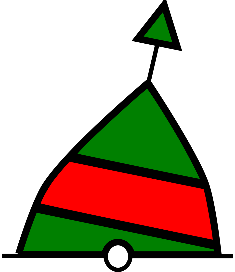 conical buoy green-red-green