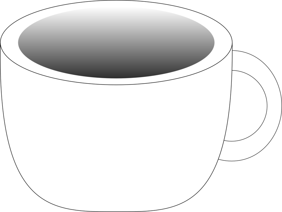 Cup containing a dark beverage