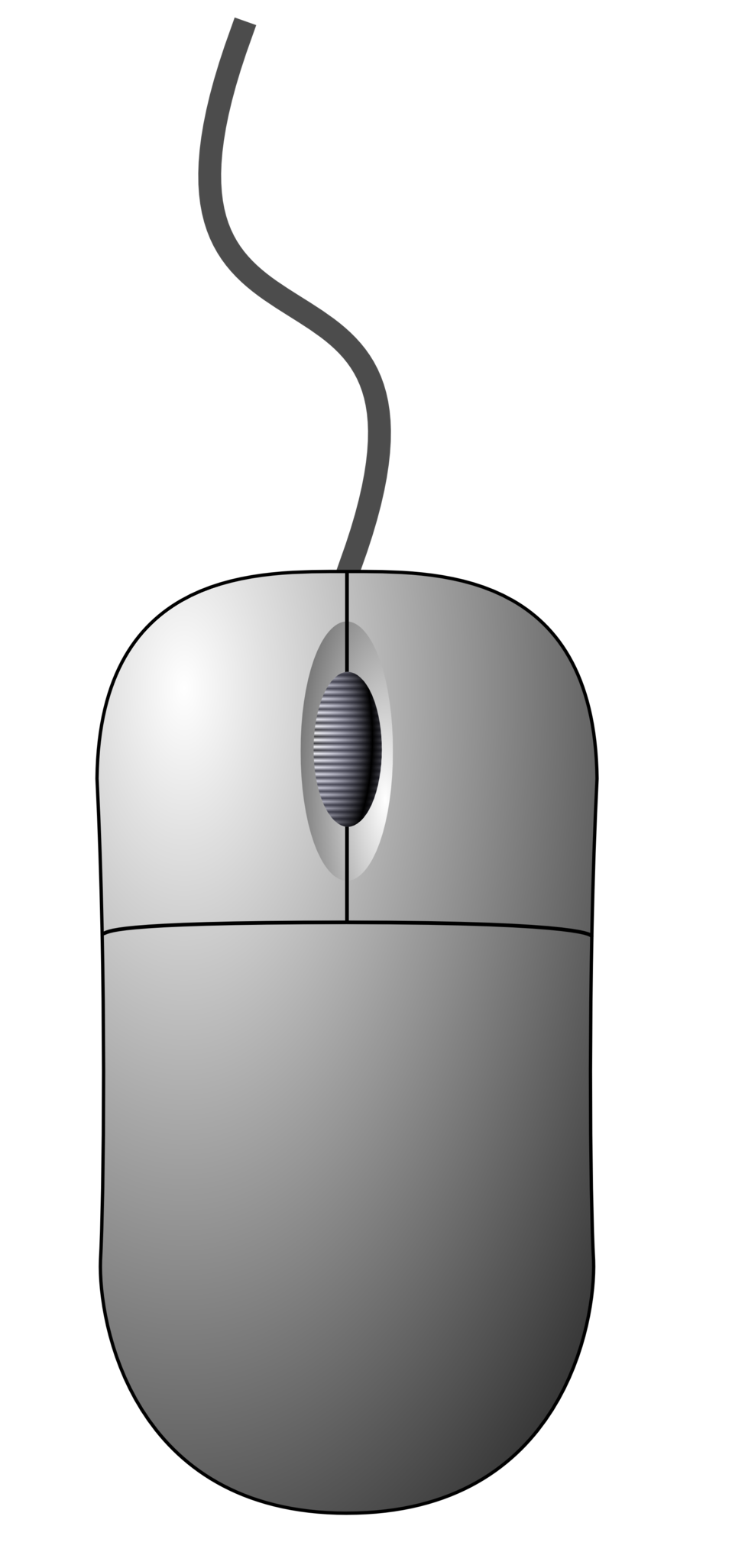 Computer mouse (top-down view)
