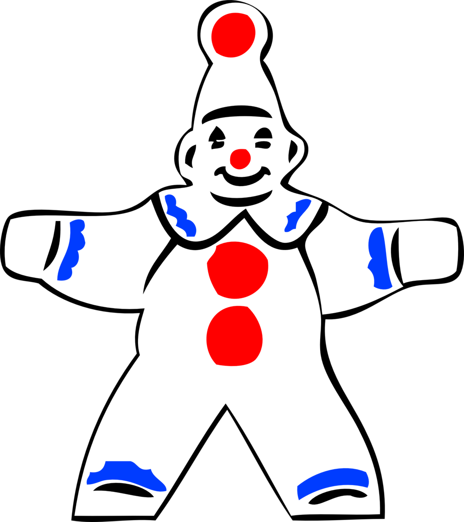 simple clown figure