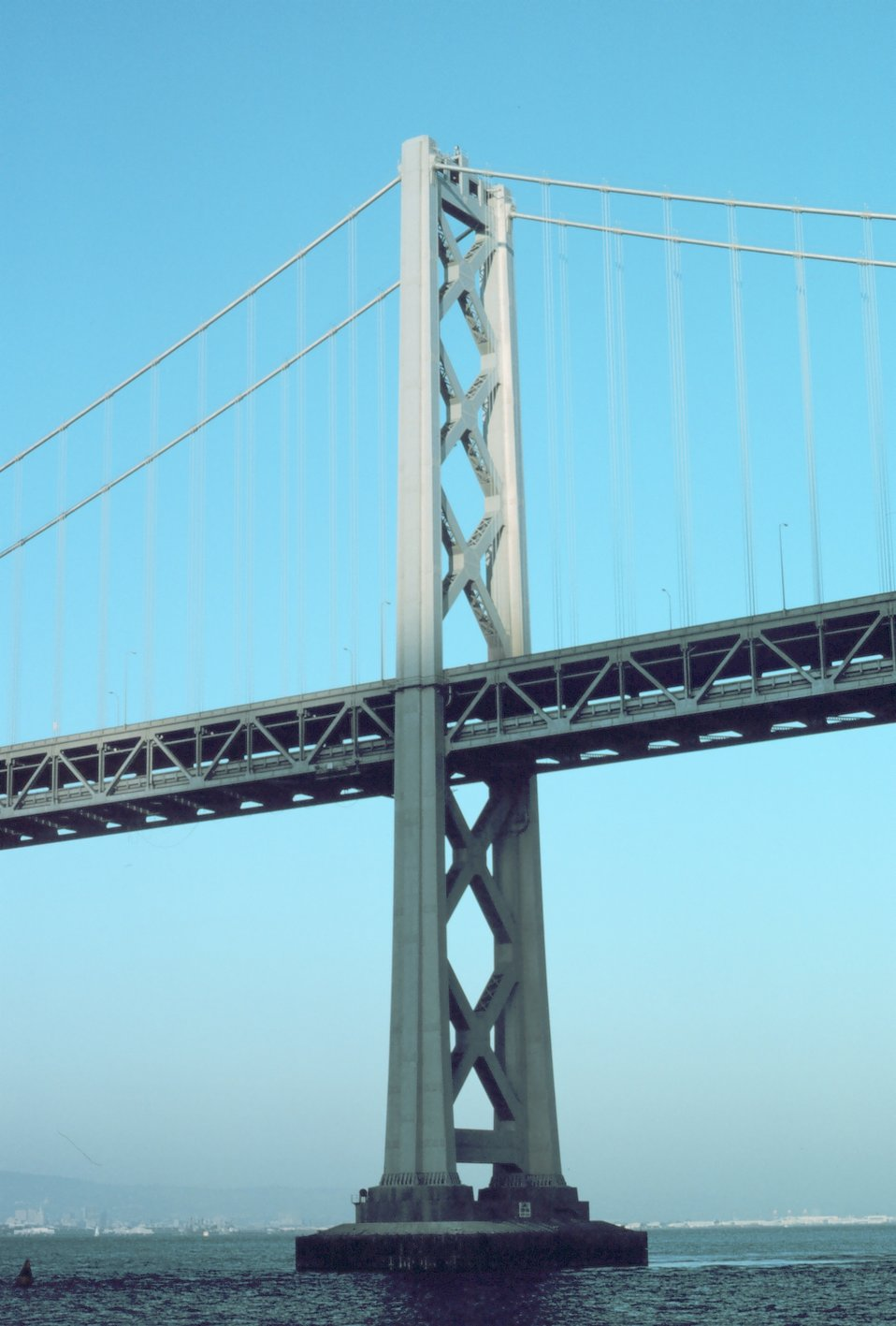 A tower of the San Francisco-Oakland Bay Bridge.