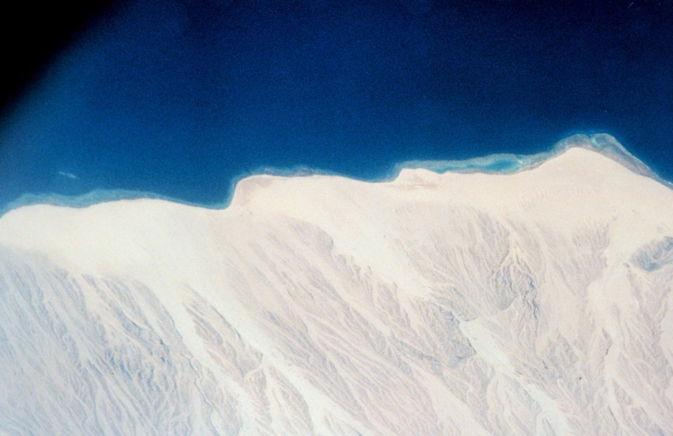Sinai Desert shoreline on the Gulf of Aqaba