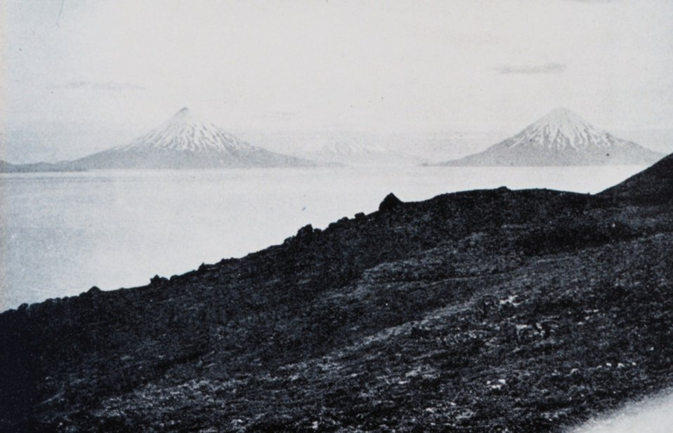 Looking SW from Uliaga in the Four Mountain Islands.