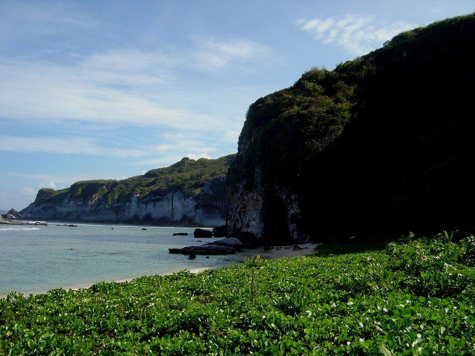 Coast near Bird Island, Saipan.