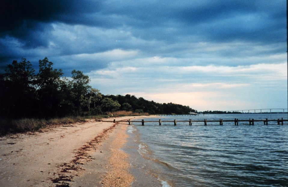 A spring storm brewing near the mouth of the Patuxent River
