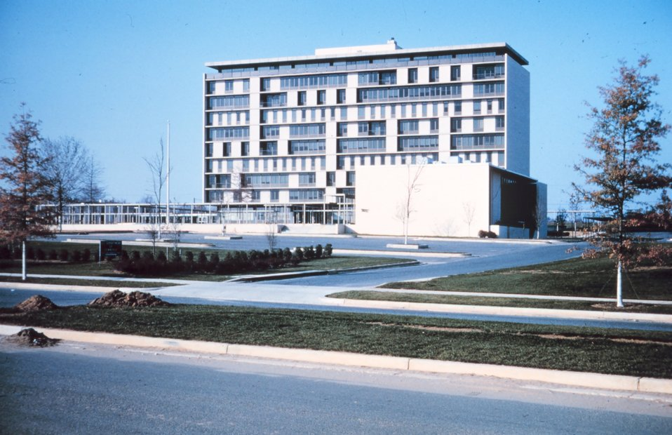 6001 Executive Boulevard, Rockville, Maryland, designated the Washington Science Center.  The home of the Coast and Geodetic Survey and the headquarters of the satellite triangulation program.  This building was brand new at the time .  It was razed in t