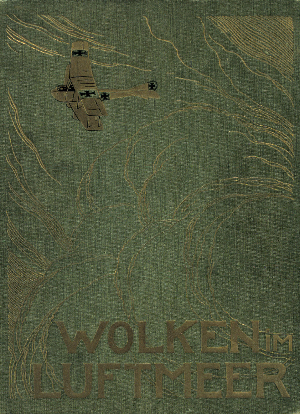 The cover of 'Wolken im Luftmeer' The embossed cover of a German cloud atlas produced for the German Air Forces. Library Call No.  QC923 .W65 1917 .